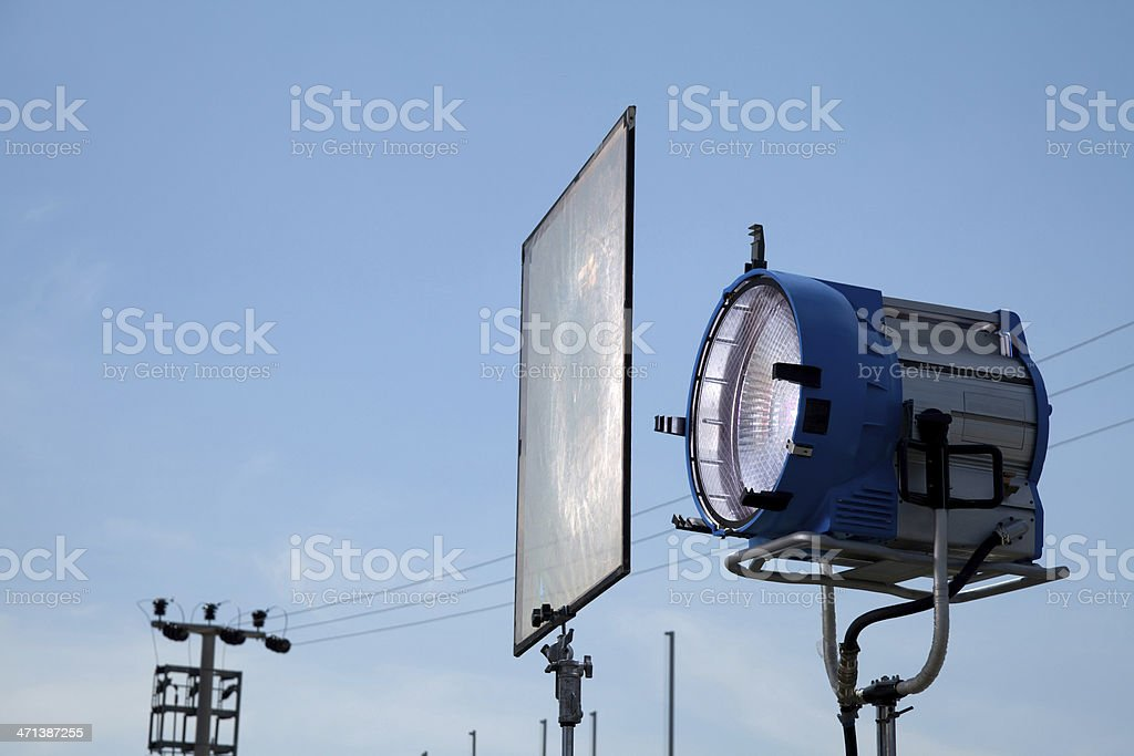 movie lights and soft filter stock photo