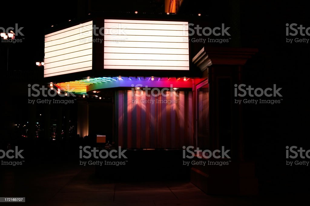 Movie Marquee and Box Office XXLarge stock photo