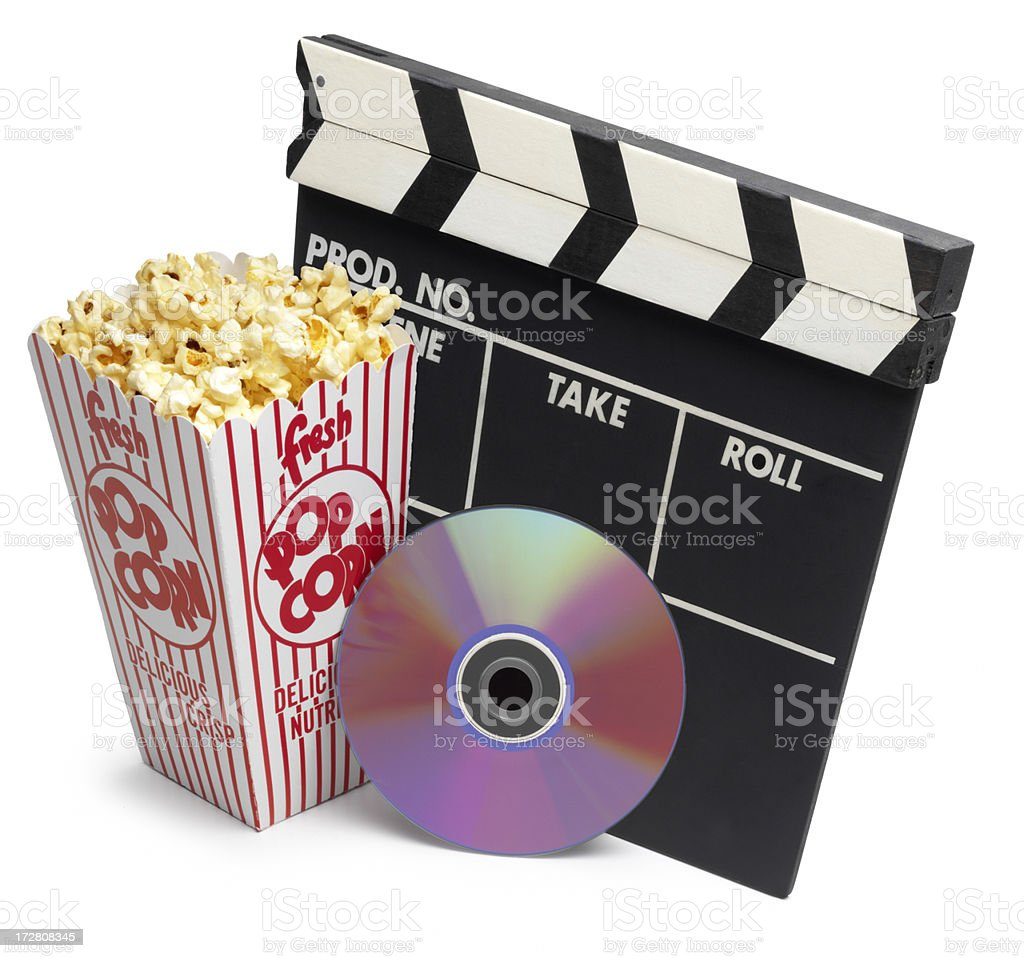 Movie Night stock photo