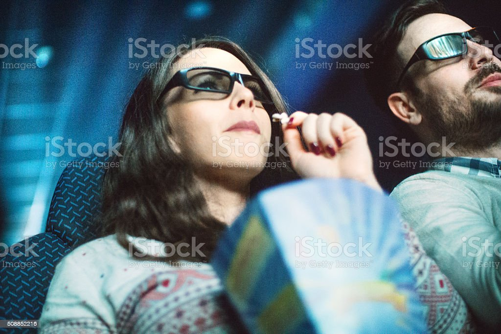 Movie night. stock photo
