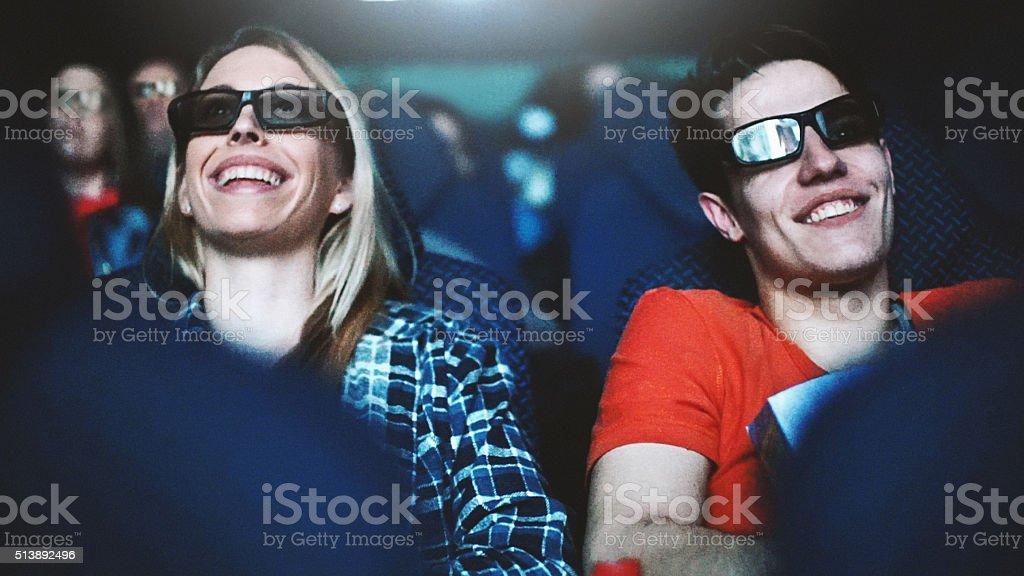Movie night. stock photo