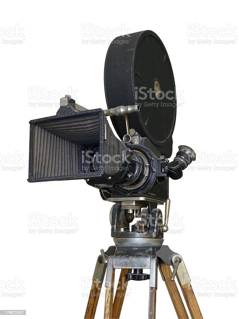 Movie old camera royalty-free stock photo
