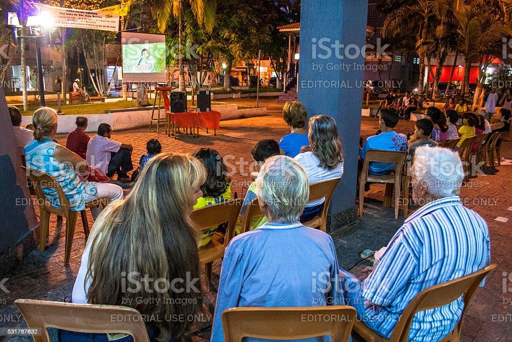 movie outdoors stock photo