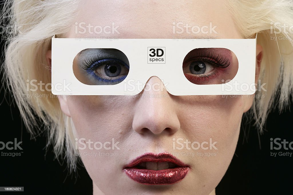3-D movie royalty-free stock photo