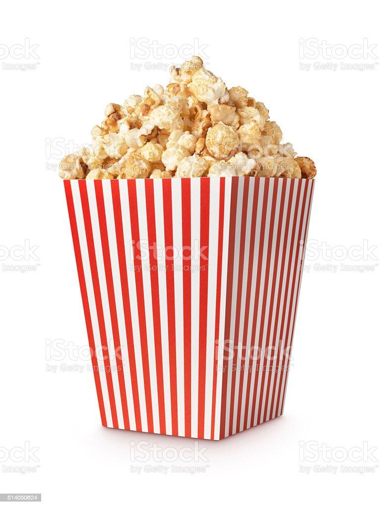 Movie popcorn verticle shot stock photo