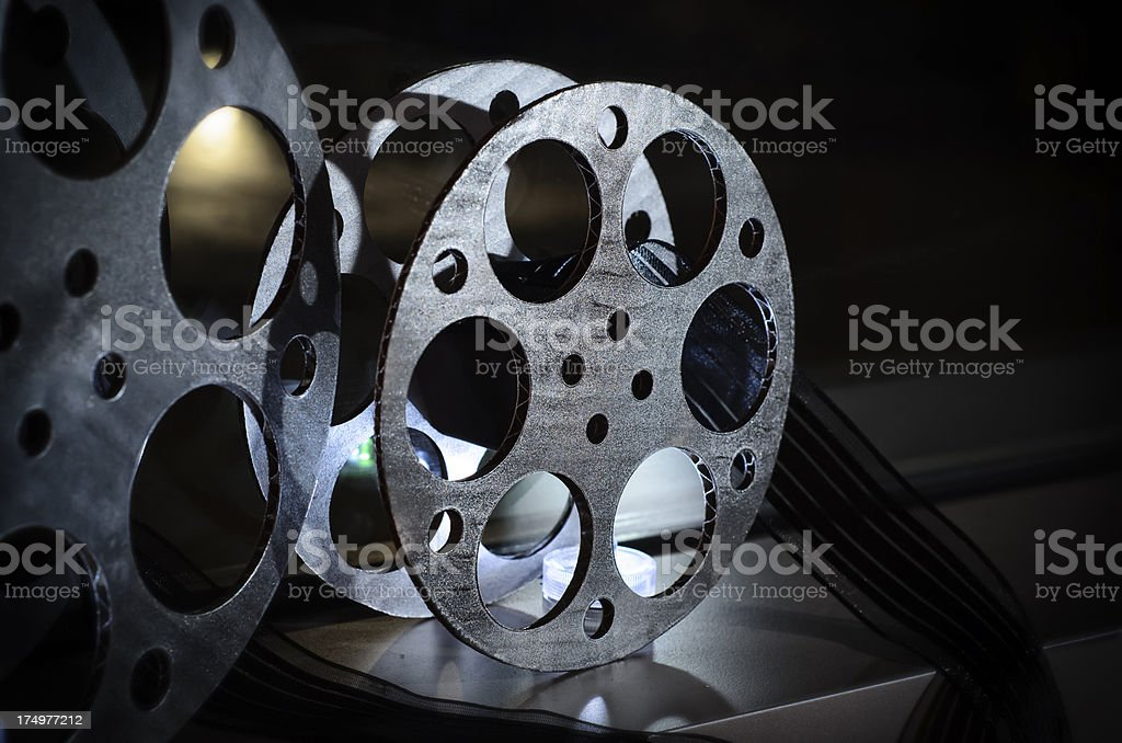 Movie Reel Decorations royalty-free stock photo
