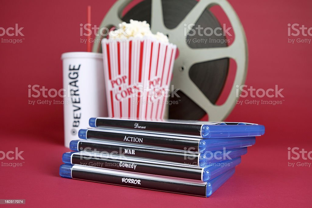 Movie Rentals stock photo