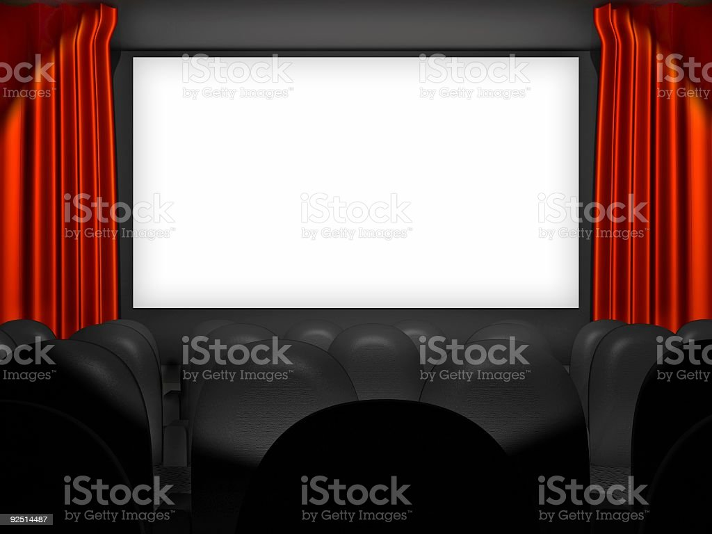 Movie Screen Insert Your Own royalty-free stock photo
