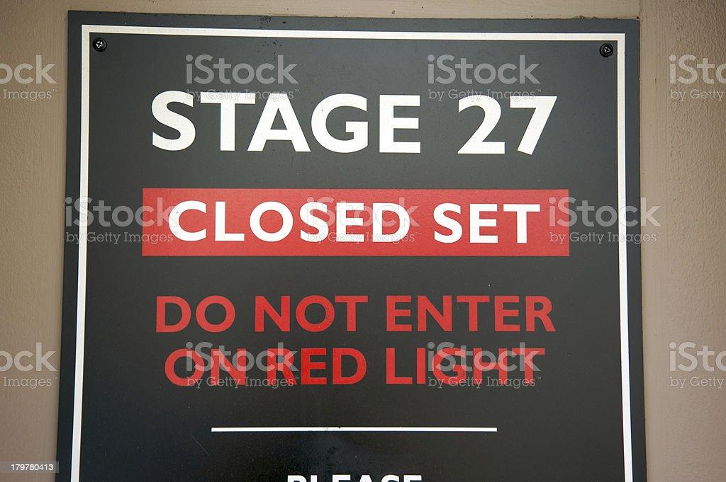 Movie set sign royalty-free stock photo