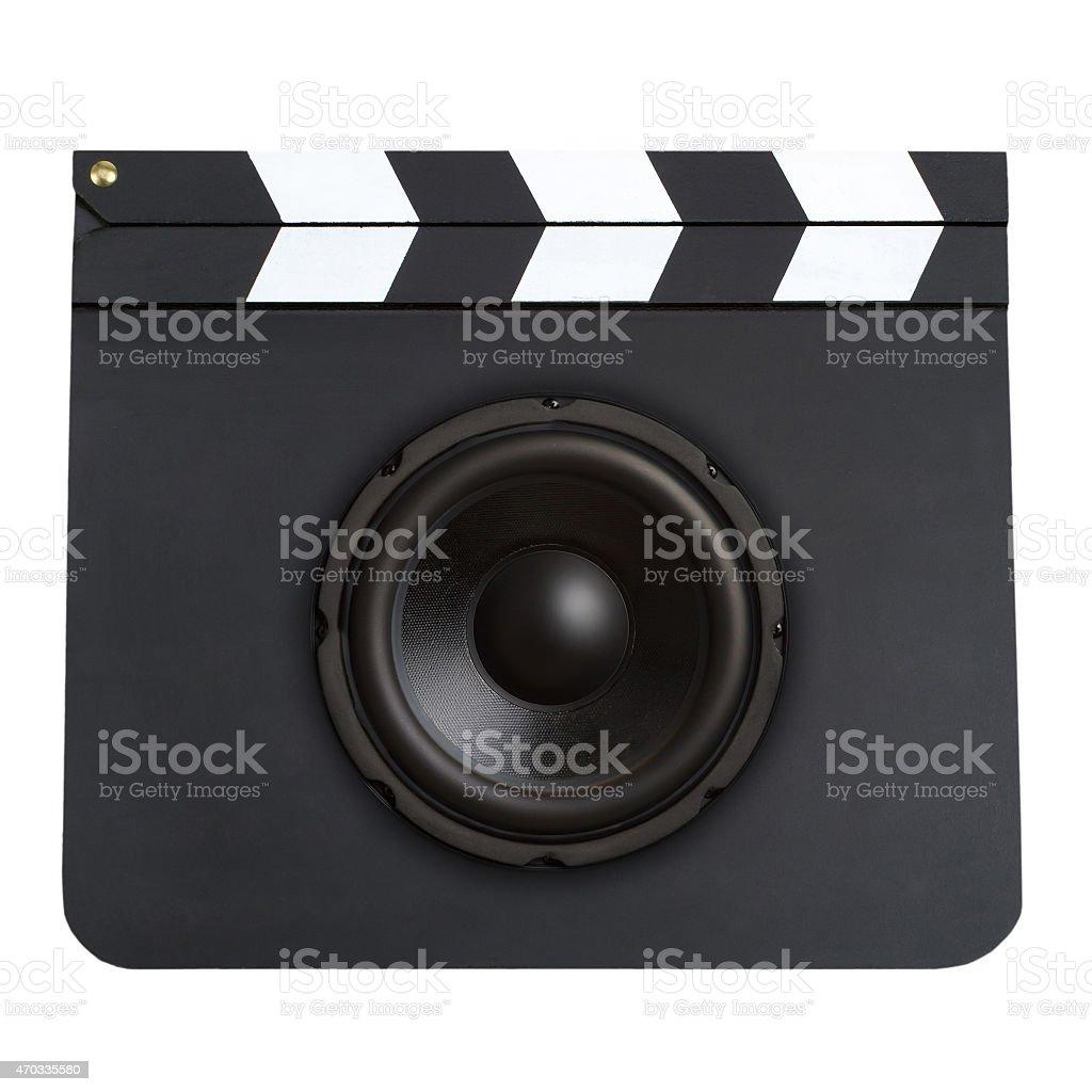 Movie soundtrack concept stock photo