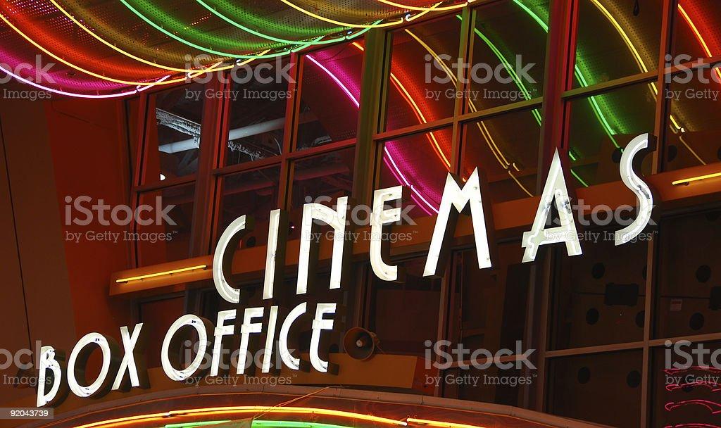 Movie Theater box office stock photo