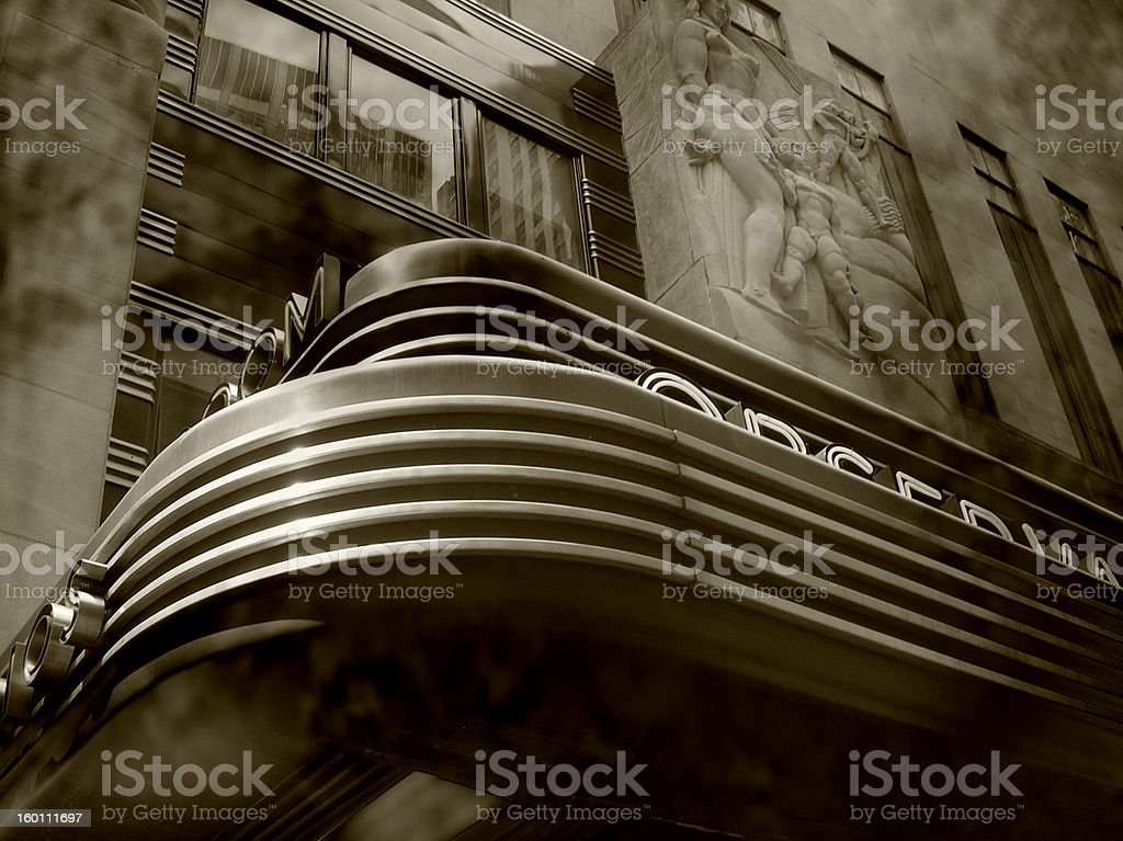 Movie theater marquee royalty-free stock photo