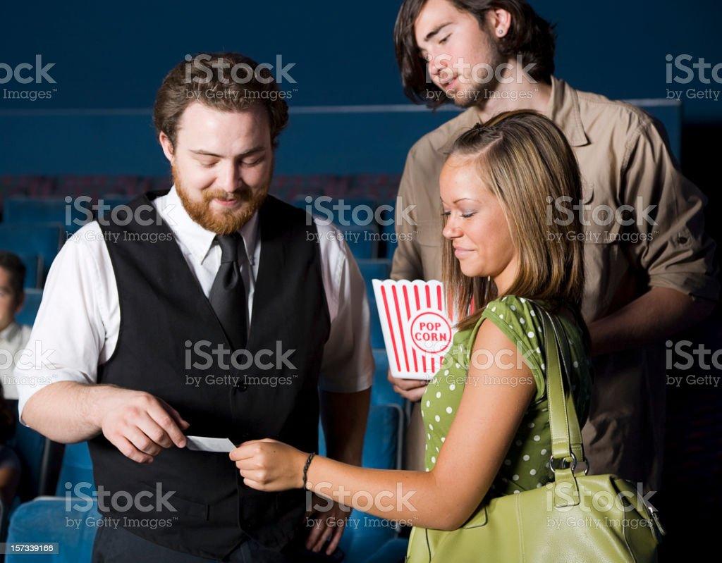 Movie Theater Usher royalty-free stock photo