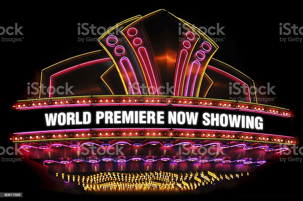 movie theatre marquee stock photo