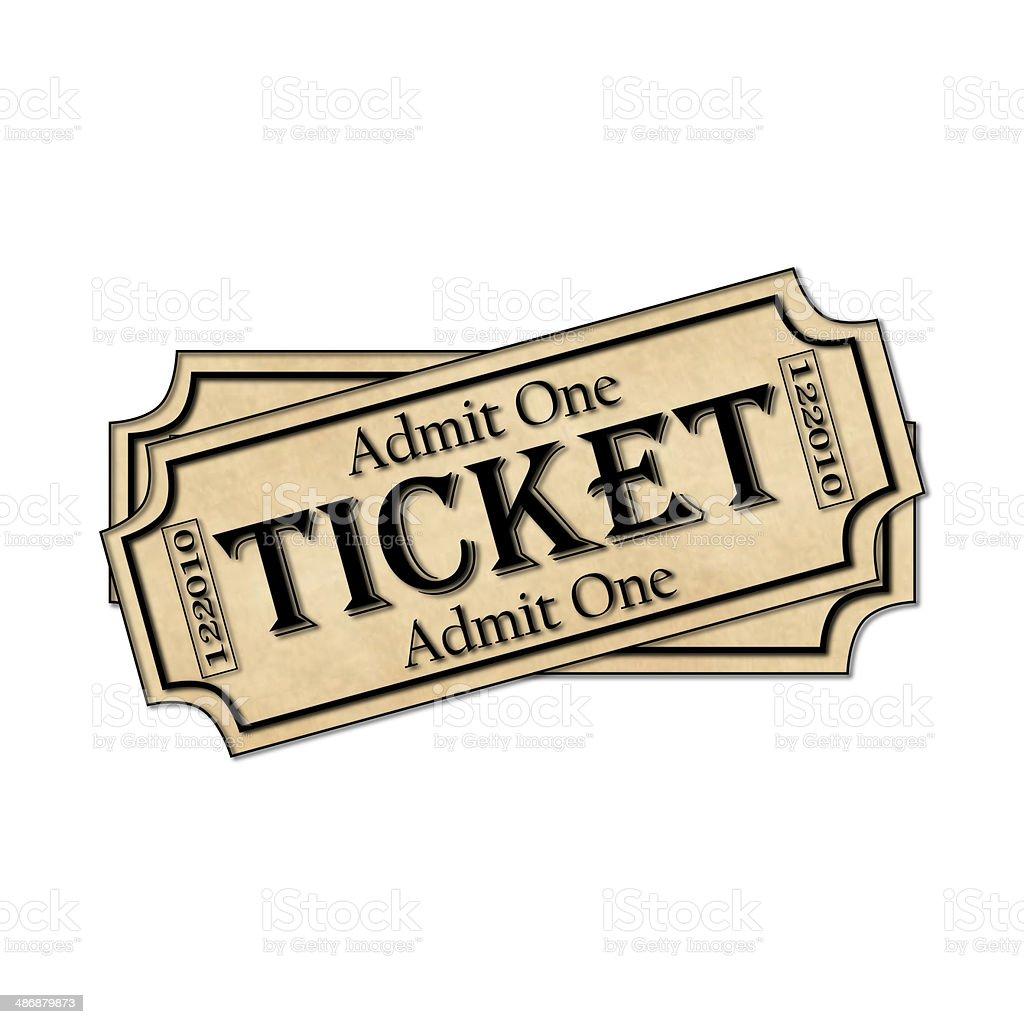 Movie Ticket Prop stock photo