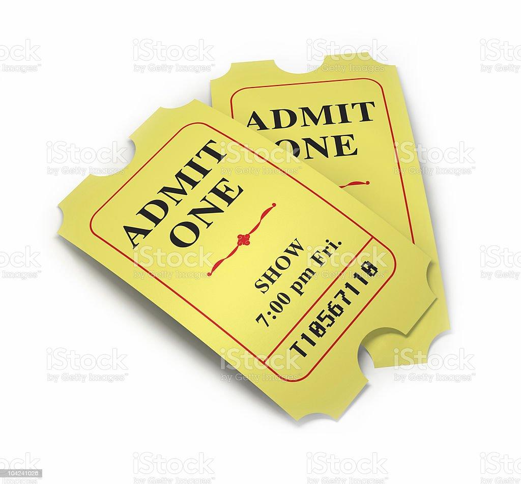 Movie Tickets stock photo