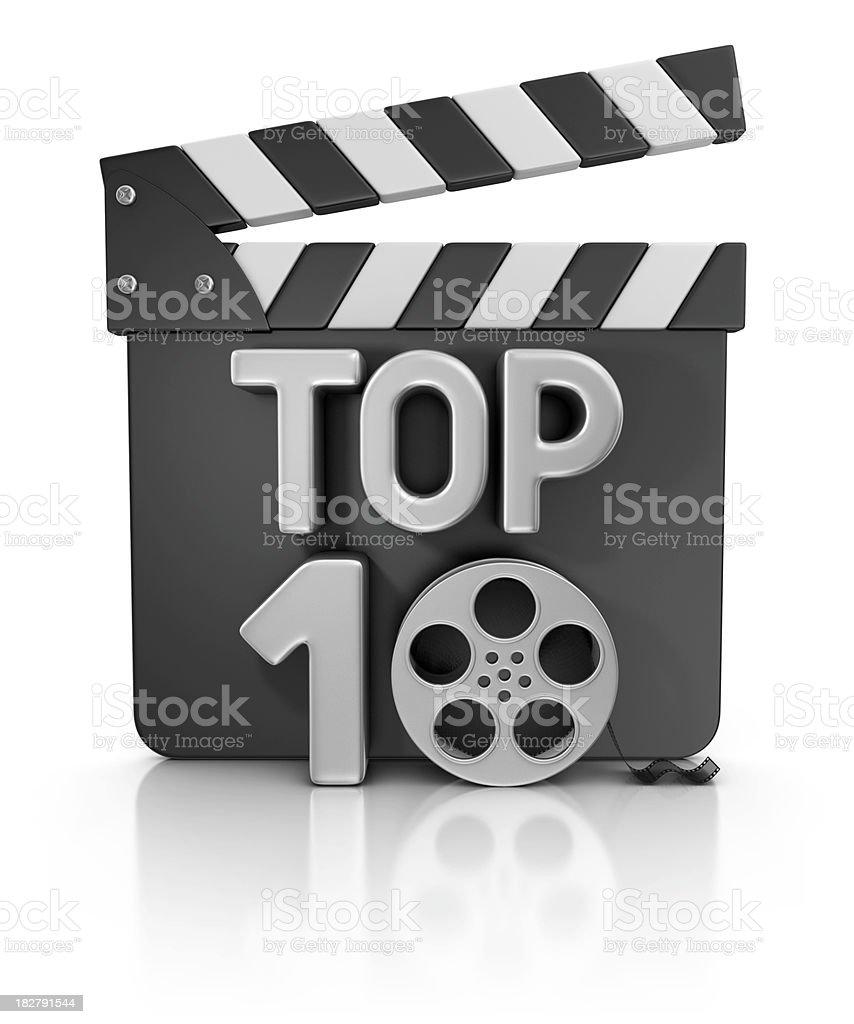 movie TOP 10 stock photo