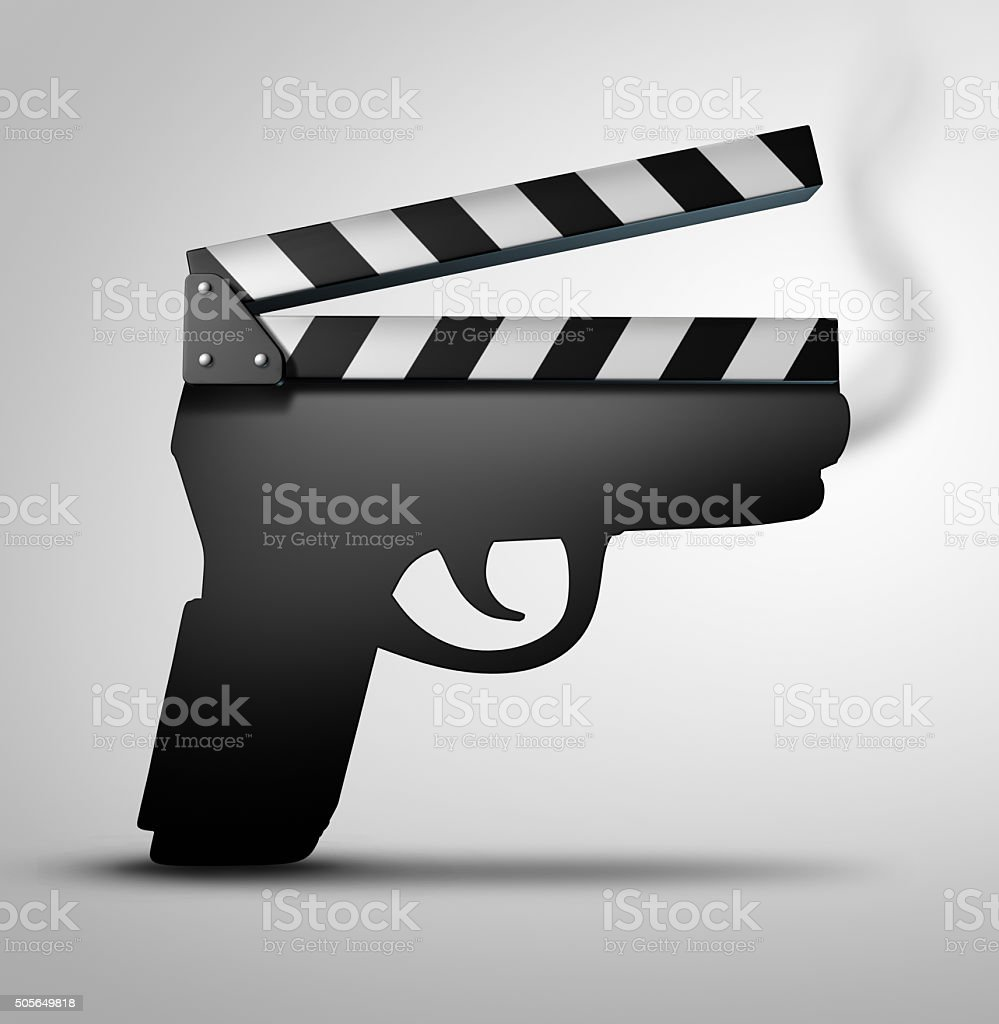 Movie Violence Concept stock photo
