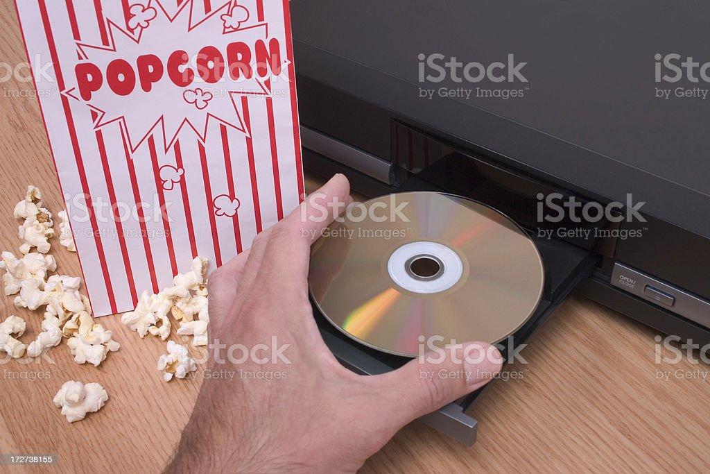 Movies At Home royalty-free stock photo