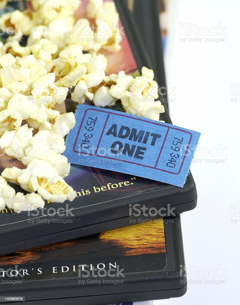 DVD Movies royalty-free stock photo
