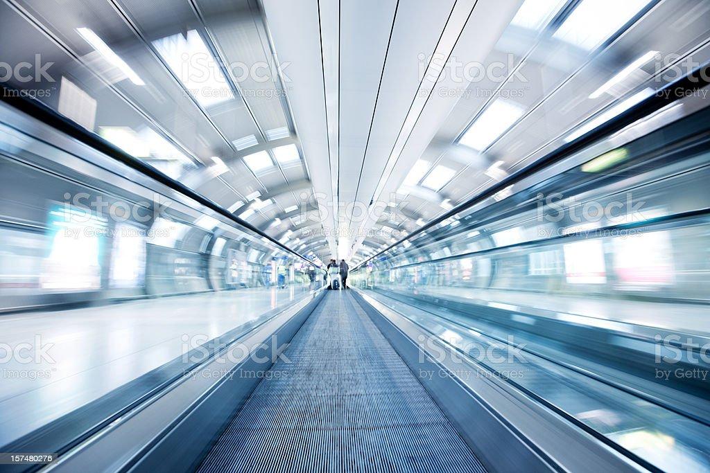 Moving Airport Walkway stock photo