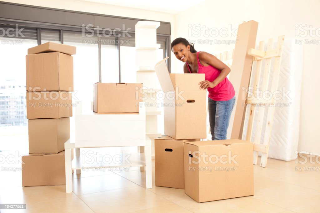 Moving an apartment fast and carefully. royalty-free stock photo