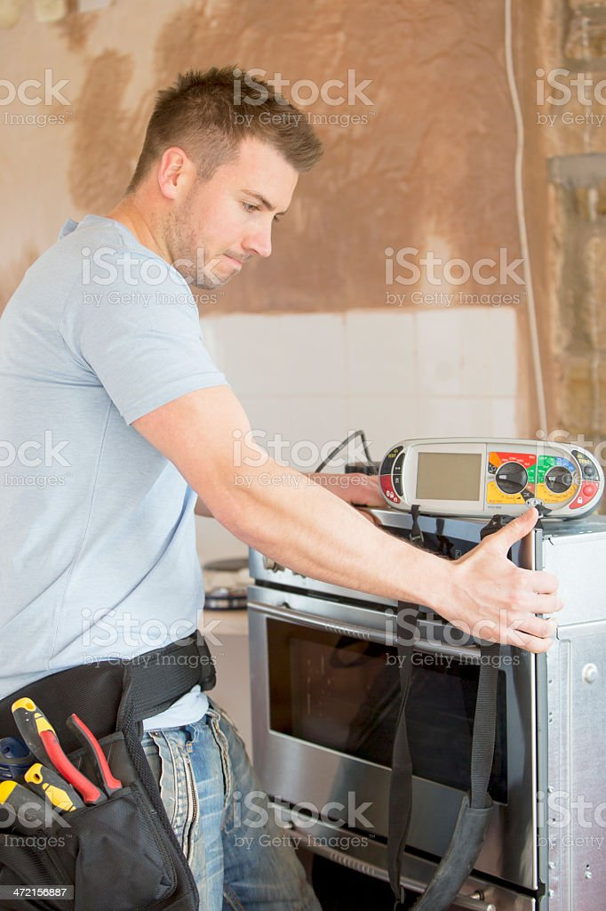 Moving Appliances royalty-free stock photo