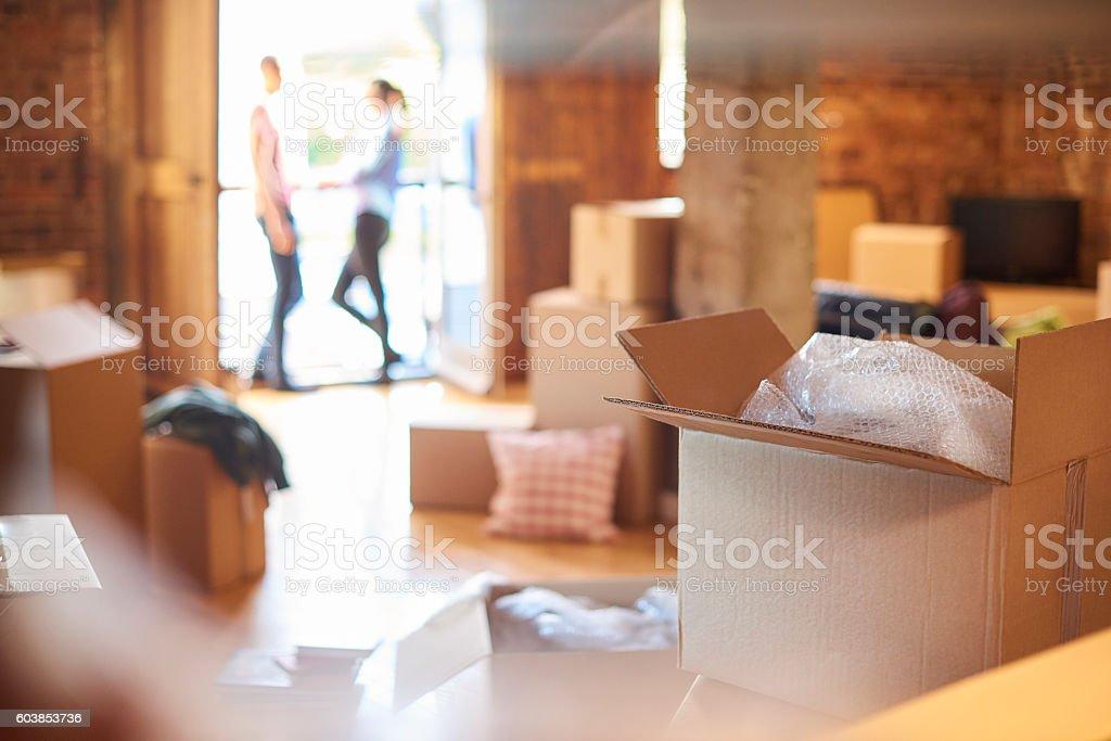 moving box stock photo