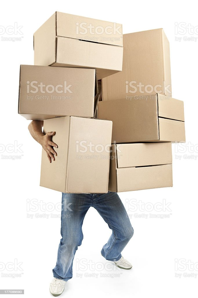 Moving Boxes royalty-free stock photo