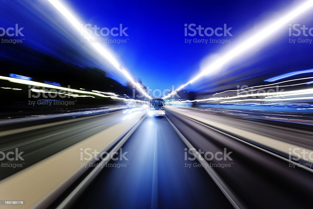Moving bus royalty-free stock photo