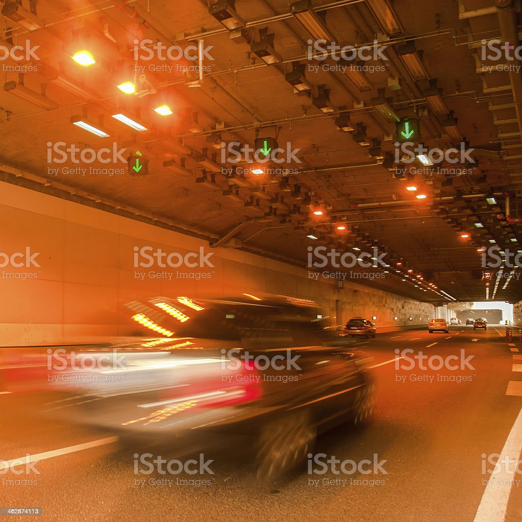 moving car in the channel royalty-free stock photo