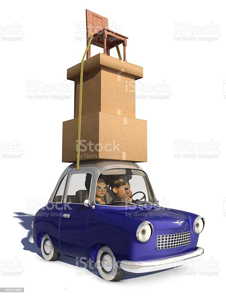 Moving Cargo royalty-free stock photo