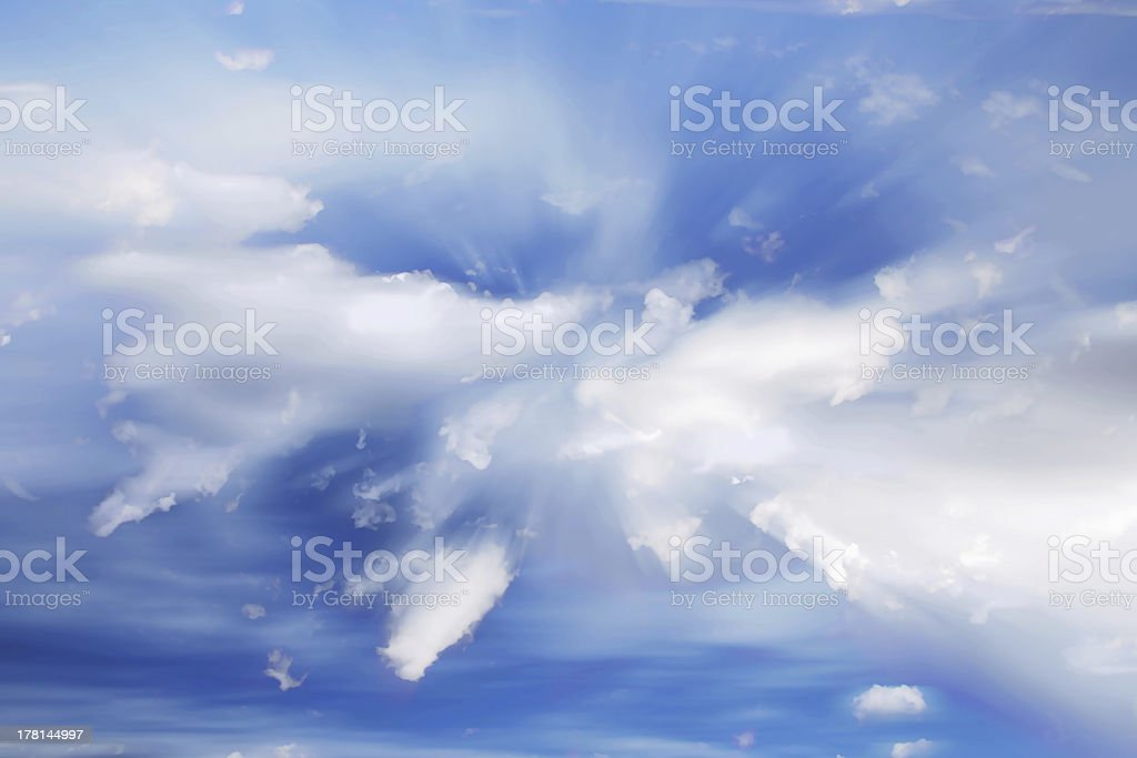 Moving Clouds royalty-free stock photo