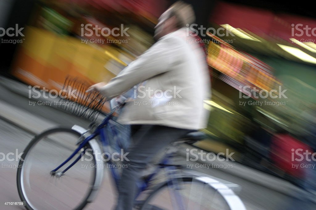 Moving Cyclist royalty-free stock photo