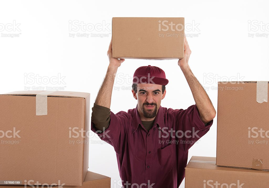 Moving Day - Man with Bad Intentions royalty-free stock photo