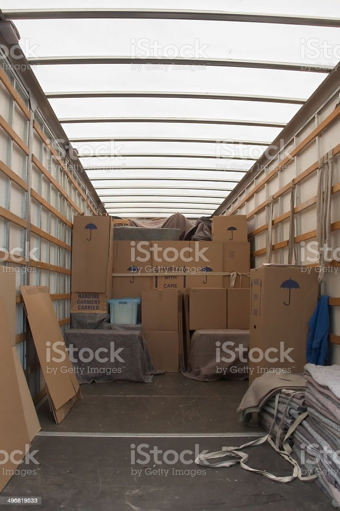 Moving day stock photo