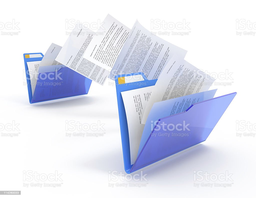 Moving documents. stock photo