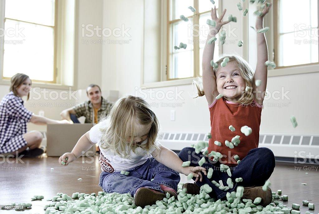 Moving Family stock photo