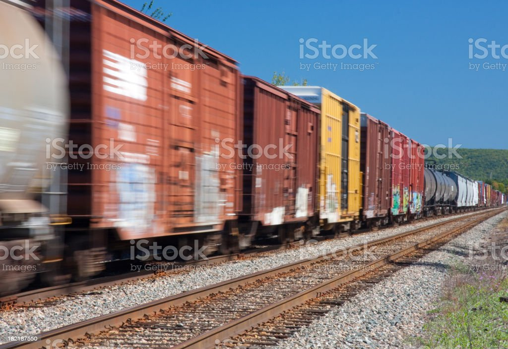 Moving Freight stock photo