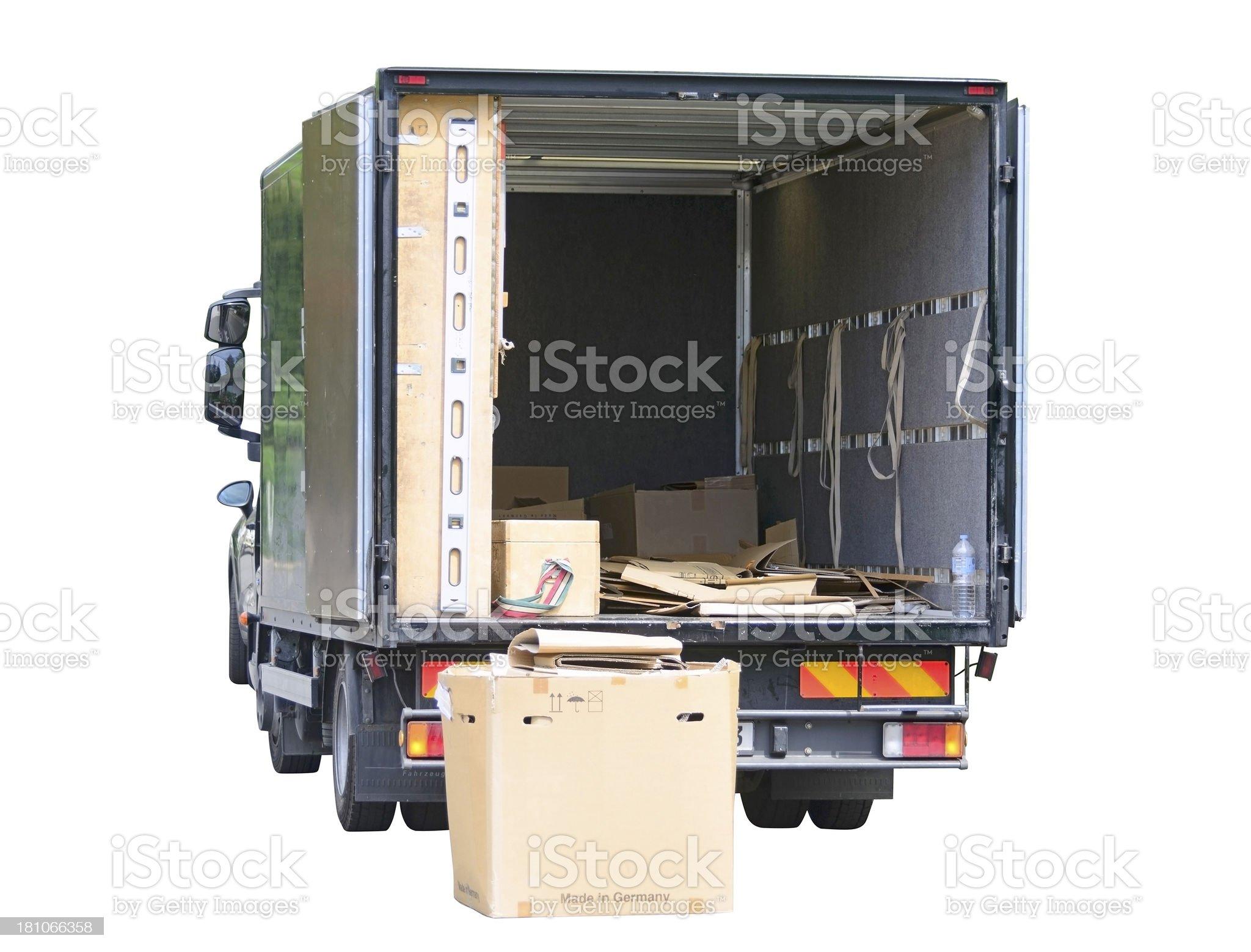 moving house float - Umzugswagen royalty-free stock photo