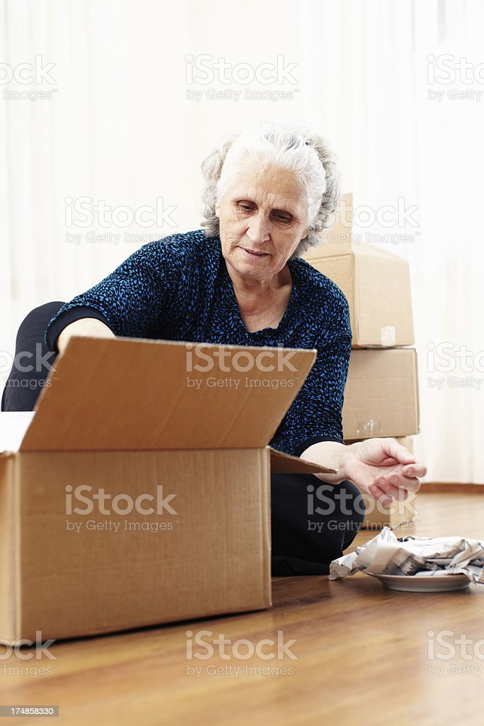 Moving house royalty-free stock photo