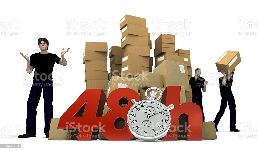 Moving in 48 Hrs stock photo