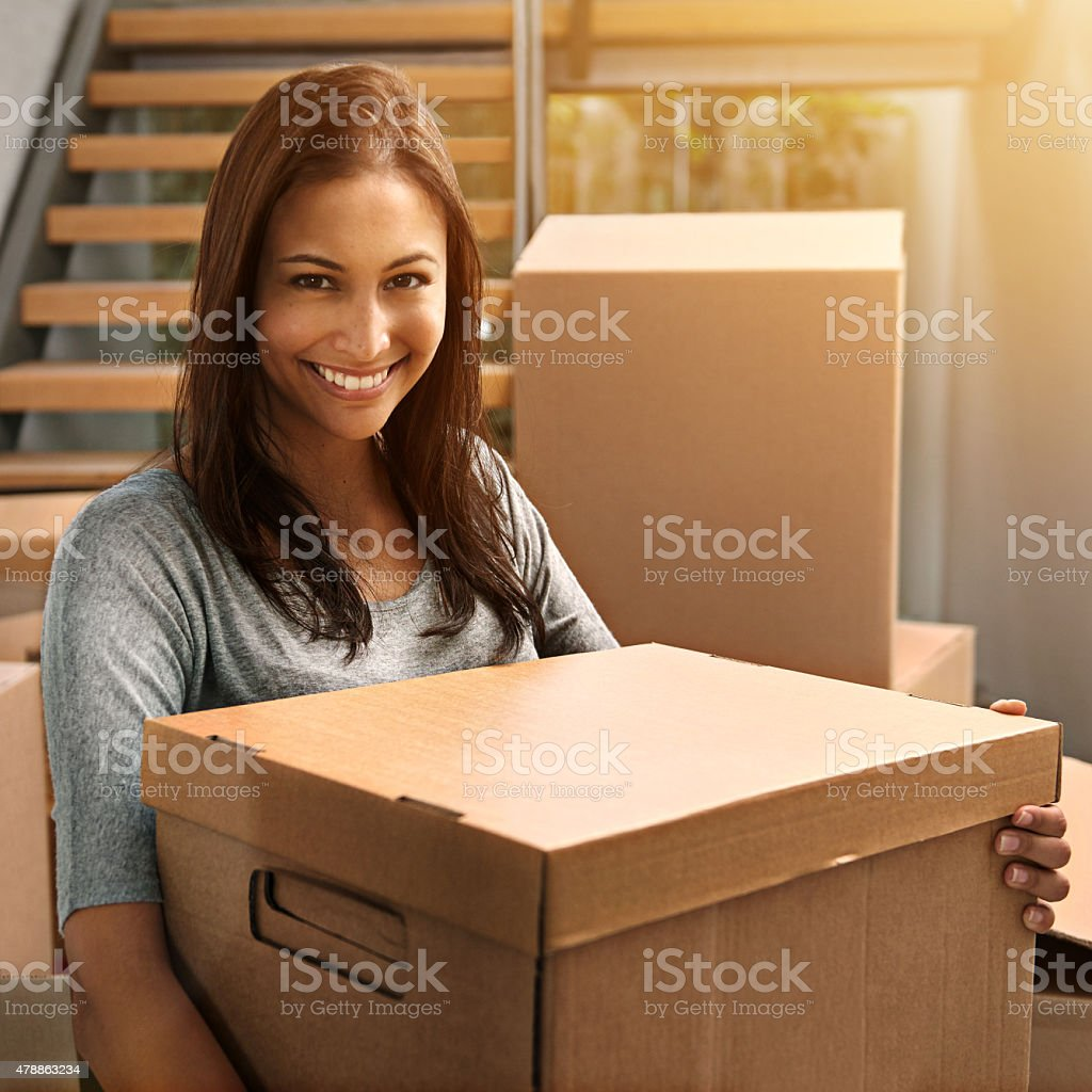 Moving in and moving up stock photo