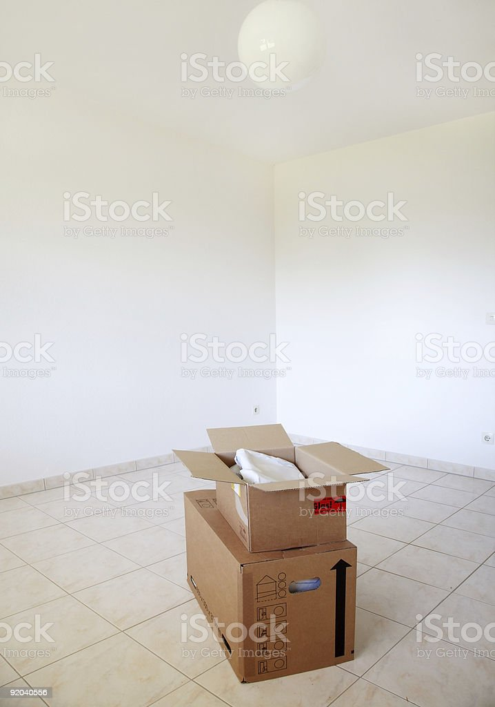 Moving in or out royalty-free stock photo