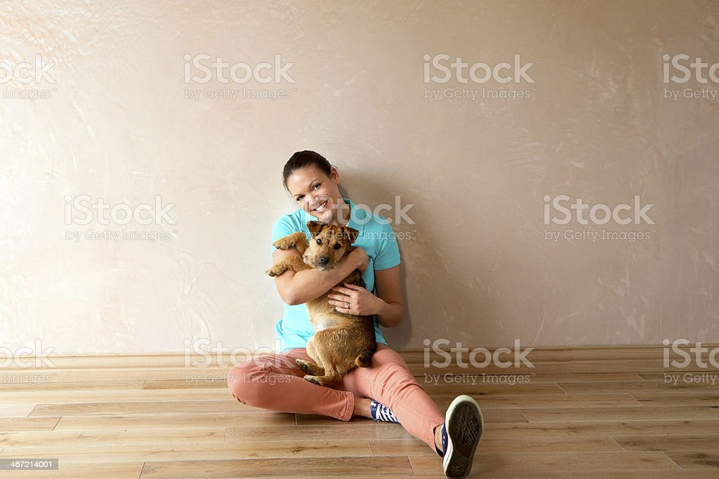 Moving In with Pet royalty-free stock photo