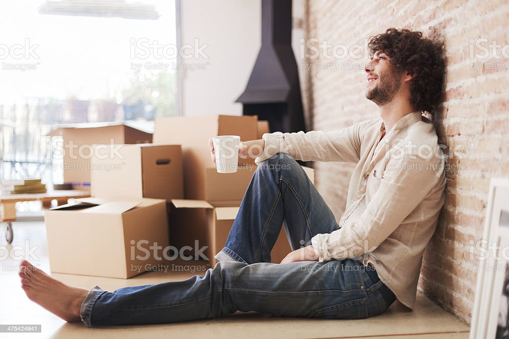 Moving into a new home. royalty-free stock photo
