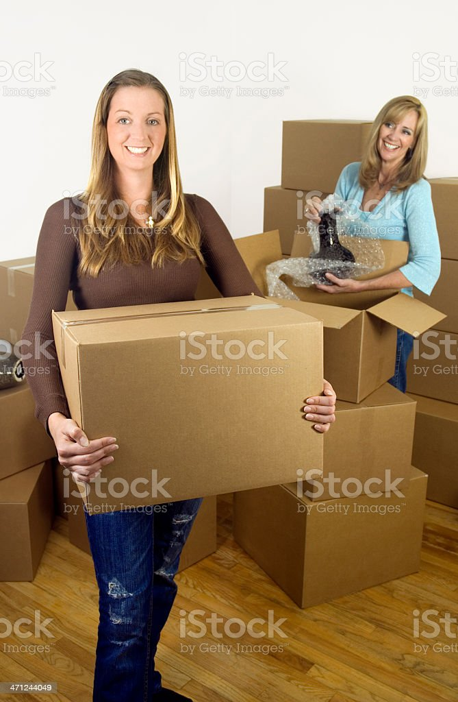 Moving Ladies royalty-free stock photo