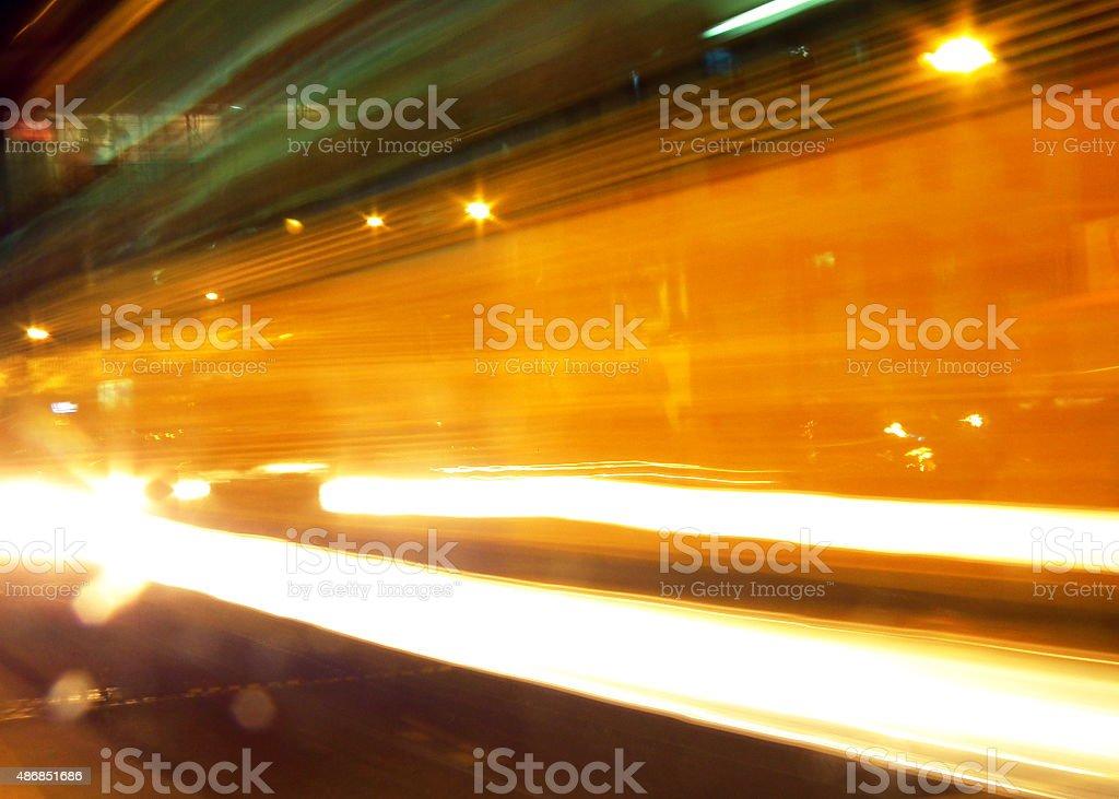 Moving Lights stock photo