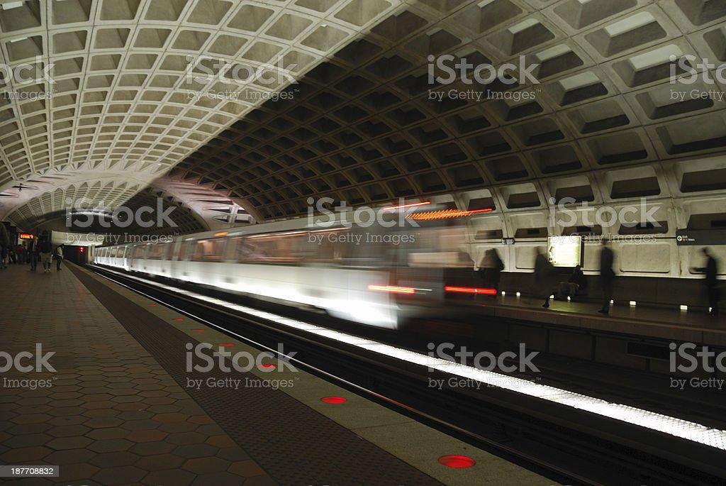 Moving Metro royalty-free stock photo