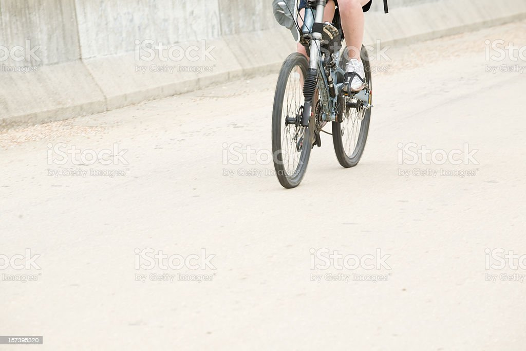 Moving Mountain Biker royalty-free stock photo